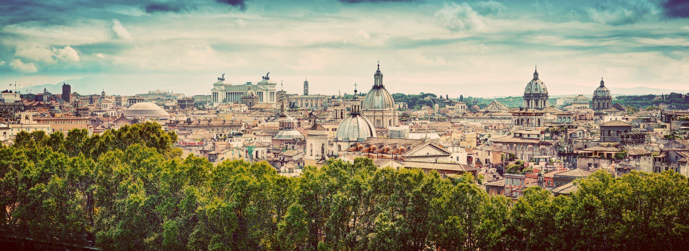 Roma panorama dal gianicolo