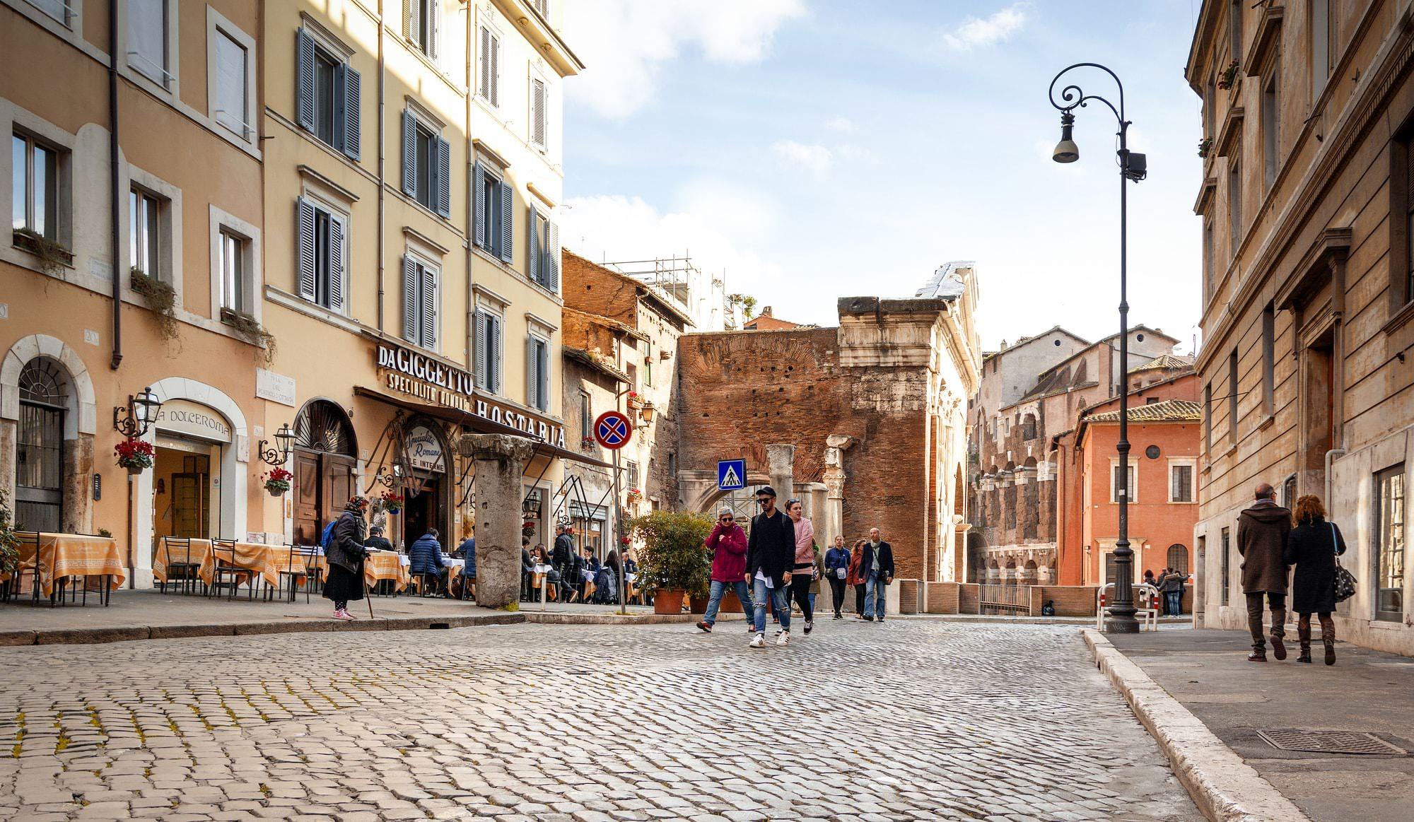Ghetto Ebraico Roma portico d'ottavia