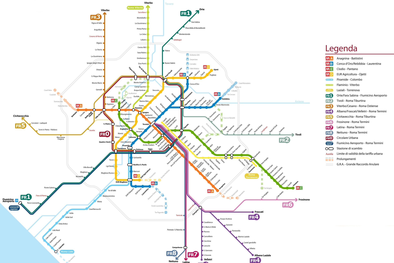 metro roma mappa