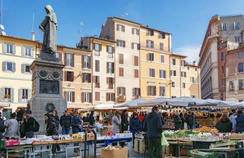 Mercato Campo de Fiori mercati di roma