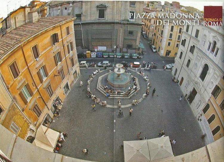 Rione Monti piazza della Madonna dei Monti Cosa fare a Roma la sera