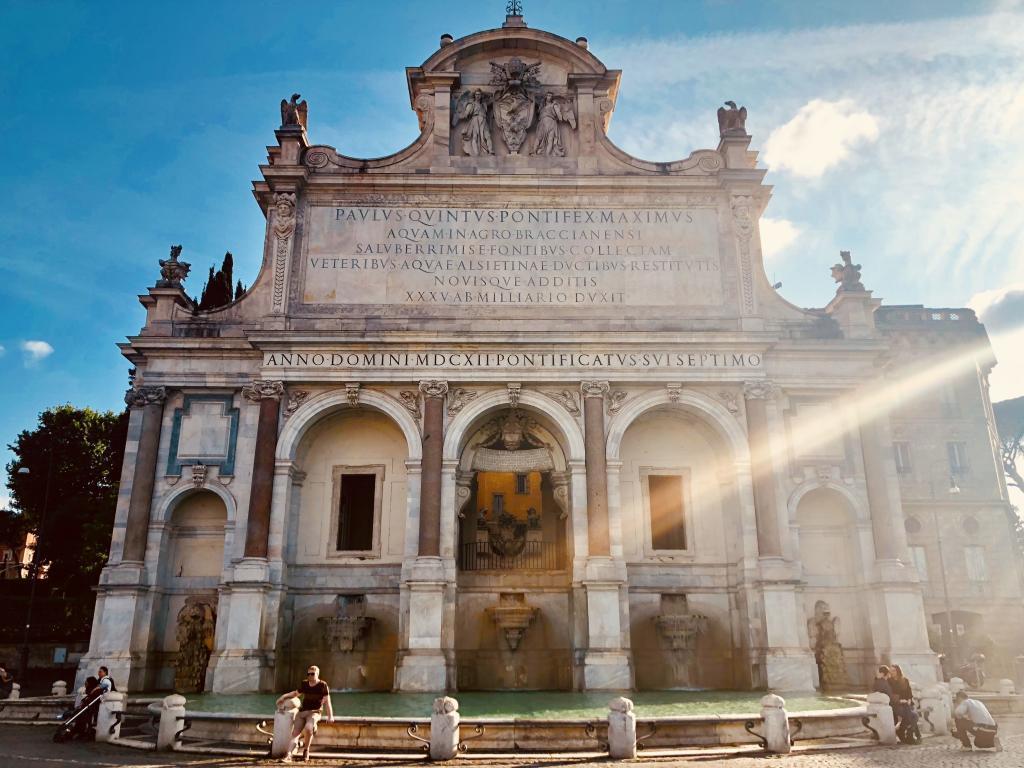 Fontana dell'Acqua Paola Fontanone Gianicolo