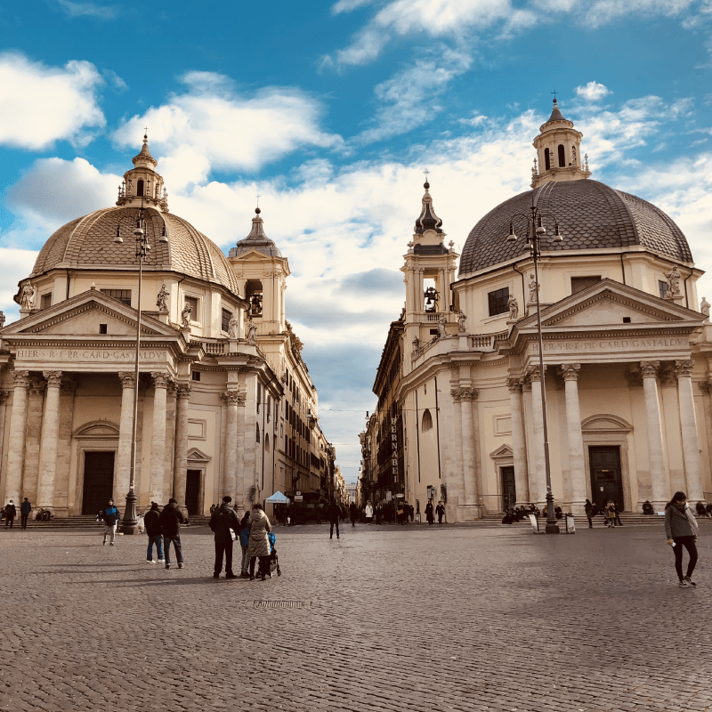 Chiese gemelle a piazza del Popolo