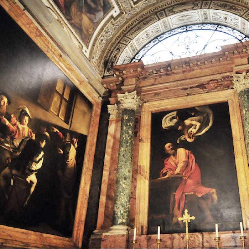 San Luigi dei Francesi Caravaggio opere Francesi a Roma