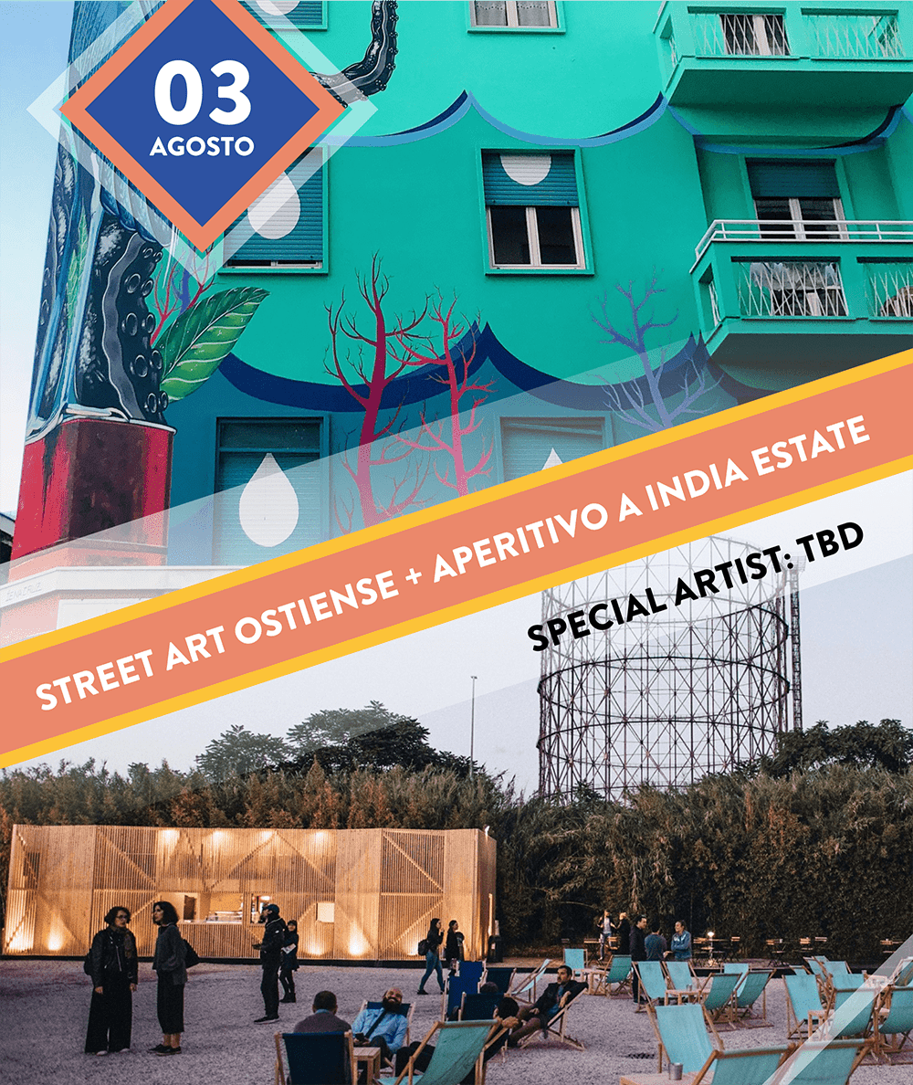 Streetart Ostiense + Aperitivo a India Estate