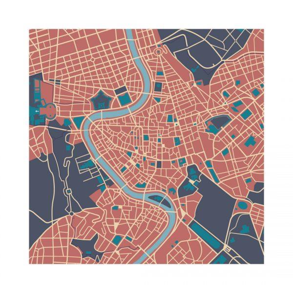 Illustrazione Mappa di Roma