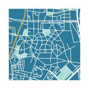 Illustrazione Mappa Garbatella Garbatella100