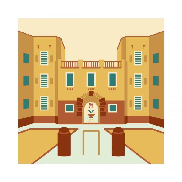 Illustrazione Piazza Brin Garbatella100