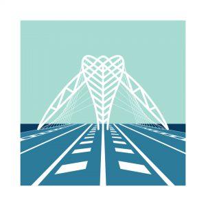 Illustrazione Ponte Settimia Spizzichino Garbatella100